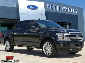 2018 Shadow Black Ford F-150 Limited 4X4 EcoBoost 3.5L V6 GTDi DOHC 24V Twin Turbocharged Engine Automatic