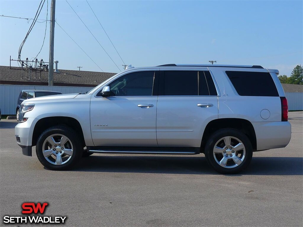 2015 Silver Ice Metallic Chevrolet Tahoe LTZ Automatic 4 Door V8 Engine SUV RWD
