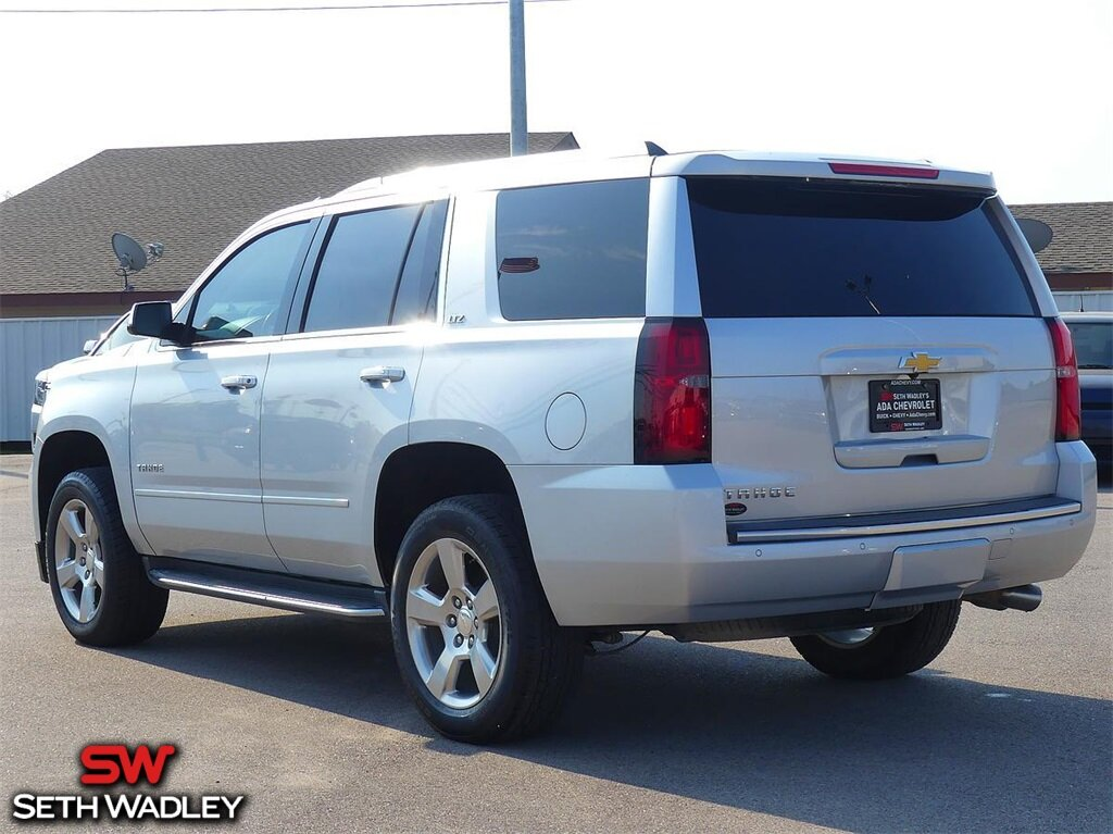 2015 Silver Ice Metallic Chevrolet Tahoe LTZ Automatic SUV V8 Engine 4 Door