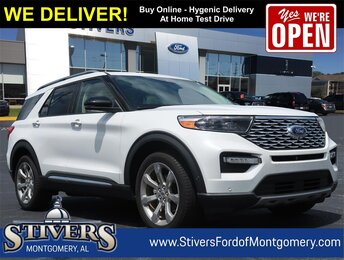2020 White Ford Explorer Platinum Automatic SUV 4 Door