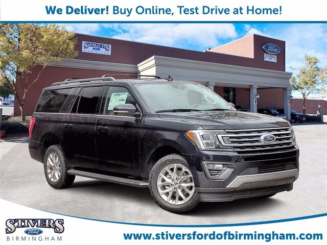 2021 Blue Metallic Ford Expedition Max XLT EcoBoost 3.5L V6 GTDi DOHC 24V Twin Turbocharged Engine 4 Door SUV