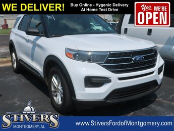 2020 Oxford White Ford Explorer XLT EcoBoost 2.3L I4 GTDi DOHC Turbocharged VCT Engine SUV RWD Automatic