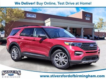 2021 Red Metallic Ford Explorer XLT Automatic RWD SUV