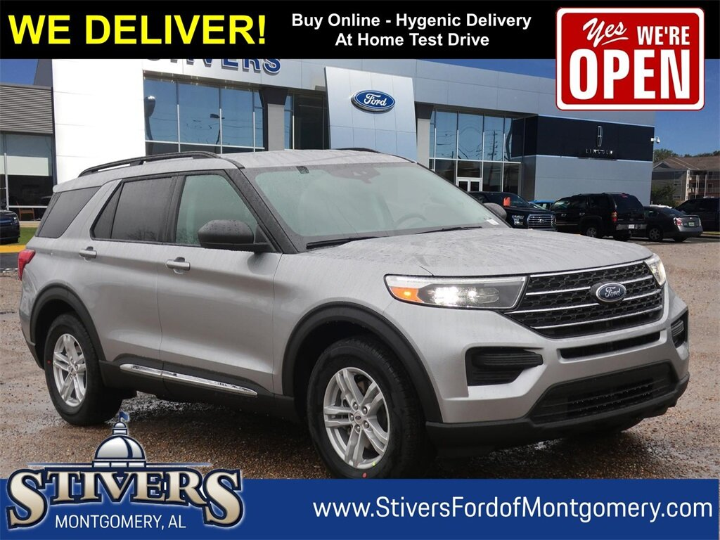 2021 Silver Ford Explorer XLT RWD SUV 4 Door Automatic 2.3L EcoBoost I-4 Engine
