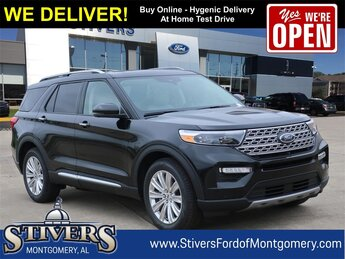 2021 Black Ford Explorer Limited SUV RWD EcoBoost 2.3L I4 GTDi DOHC Turbocharged VCT Engine Automatic 4 Door