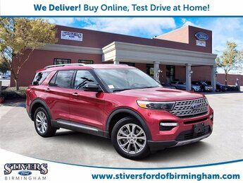 2021 Red Ford Explorer Limited EcoBoost 2.3L I4 GTDi DOHC Turbocharged VCT Engine Automatic 4 Door