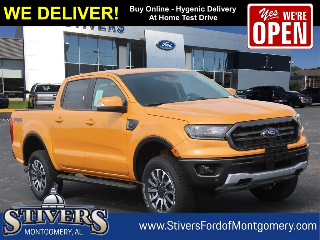 2021 Cyber Orange Metallic Tricoat Ford Ranger Lariat Truck EcoBoost 2.3L I4 GTDi DOHC Turbocharged VCT Engine 4 Door Automatic 4X4