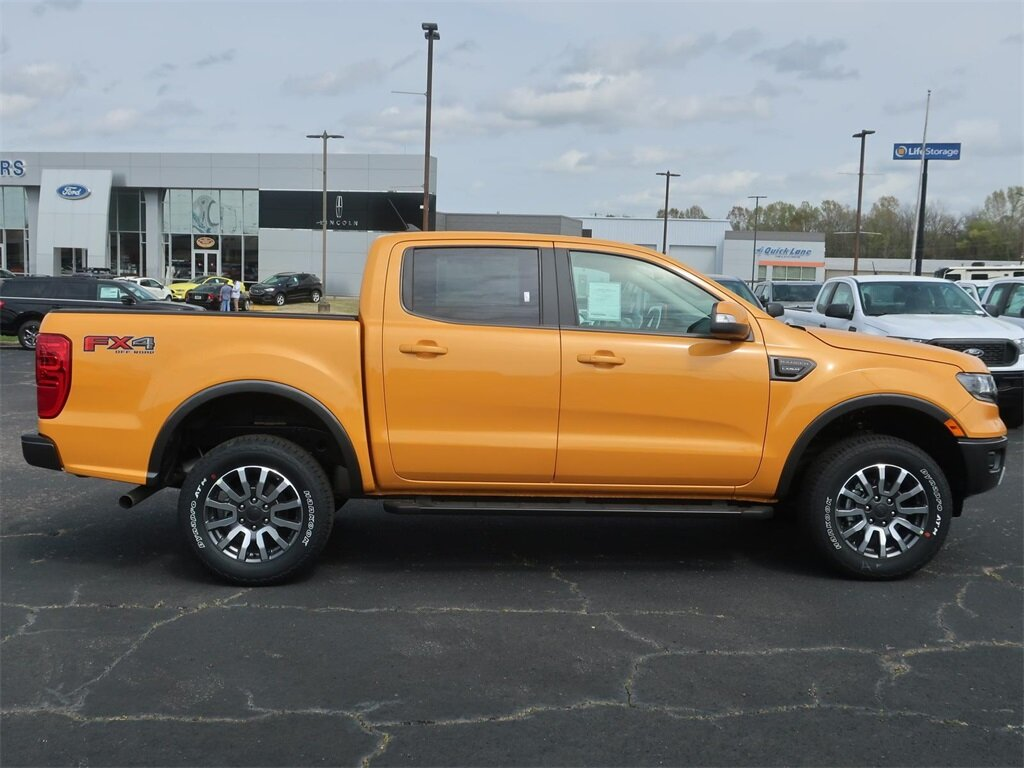 2021 Cyber Orange Metallic Tricoat Ford Ranger Lariat Automatic EcoBoost 2.3L I4 GTDi DOHC Turbocharged VCT Engine 4 Door Truck