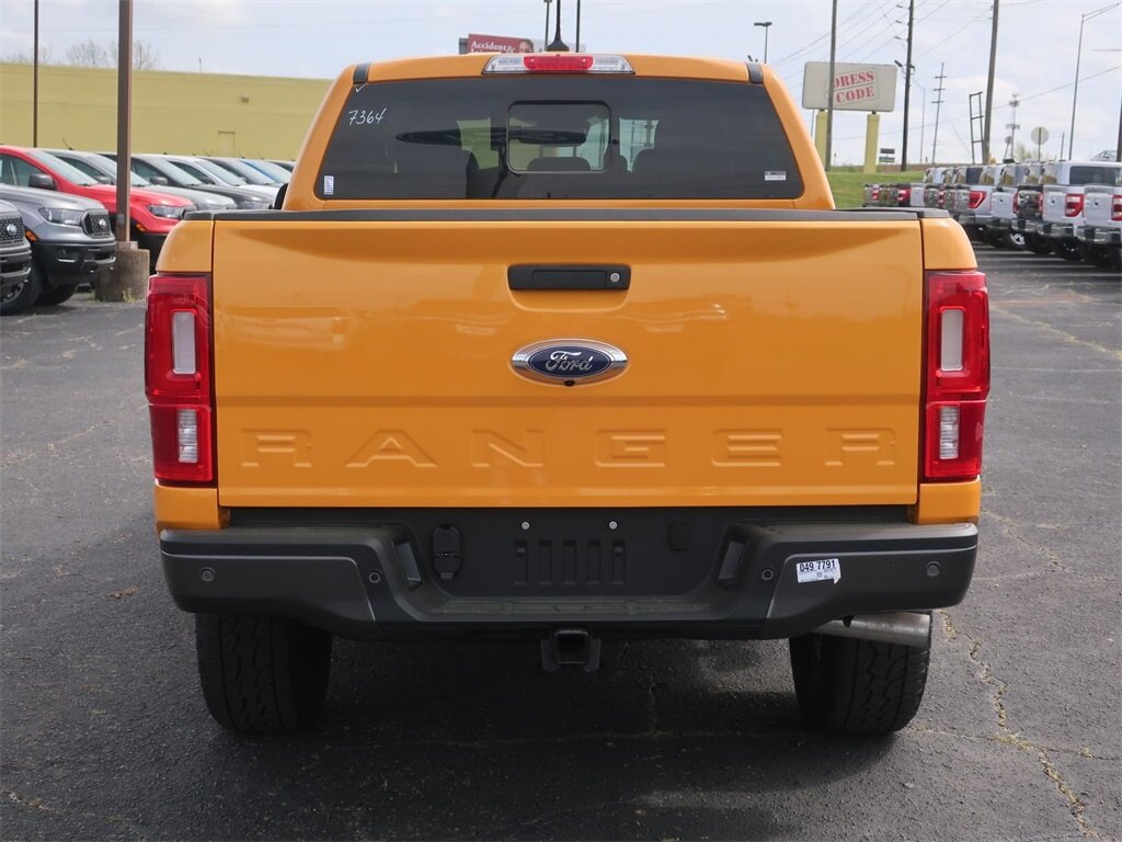 2021 Cyber Orange Metallic Tricoat Ford Ranger Lariat EcoBoost 2.3L I4 GTDi DOHC Turbocharged VCT Engine 4 Door Truck