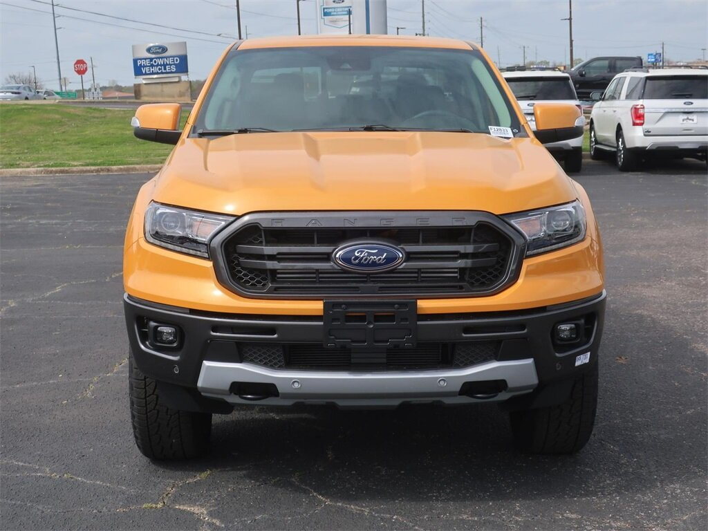 2021 Cyber Orange Metallic Tricoat Ford Ranger Lariat Truck 4X4 EcoBoost 2.3L I4 GTDi DOHC Turbocharged VCT Engine 4 Door
