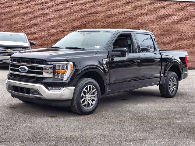 2021 Black Ford F-150 Lariat 4 Door 2.7L V6 EcoBoost Engine RWD Automatic