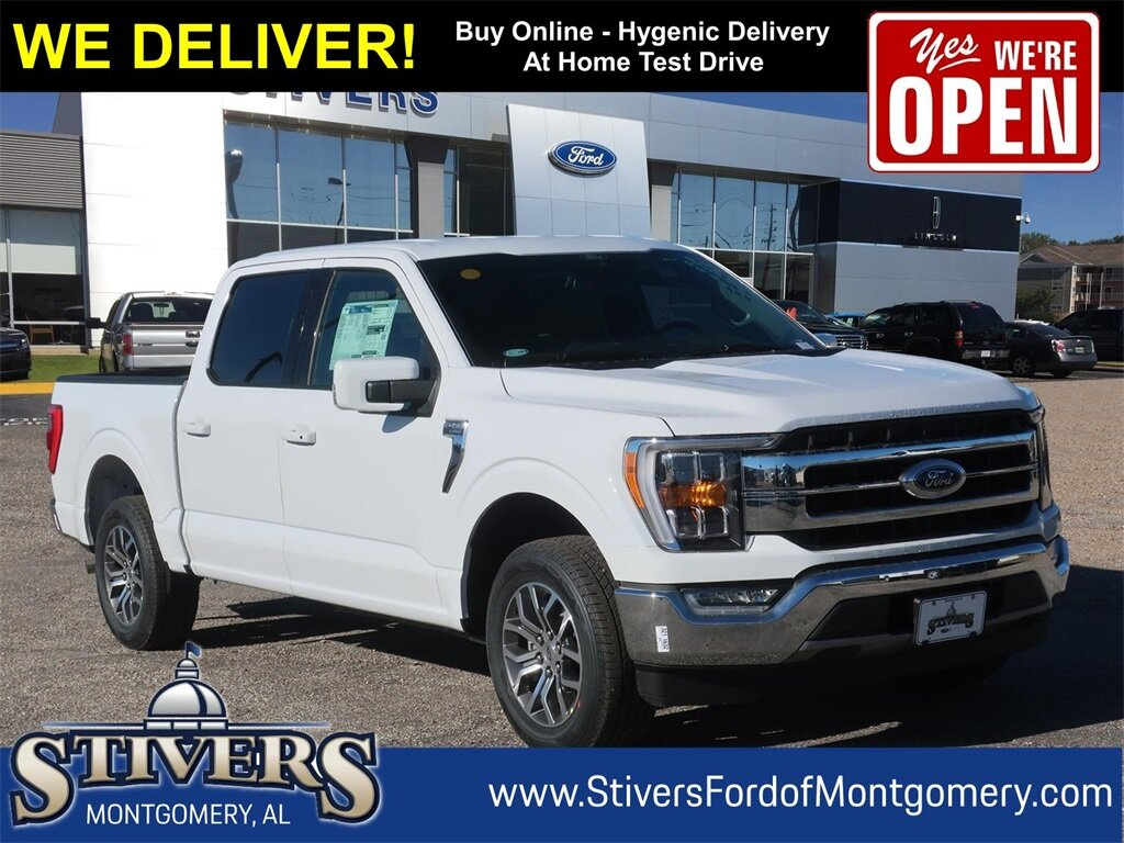 2021 Oxford White Ford F-150 Lariat Automatic Truck 2.7L V6 EcoBoost Engine RWD