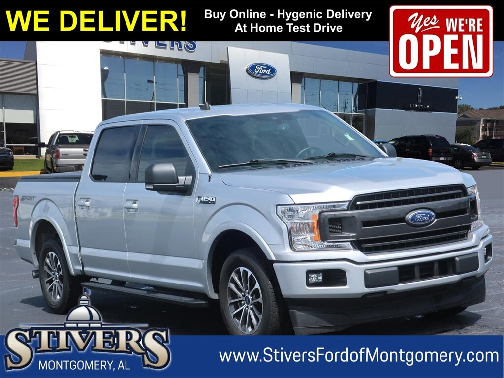 2019 Ingot Silver Ford F-150 XLT Twin Turbo Regular Unleaded V-6 2.7 L/164 Engine Automatic Truck RWD