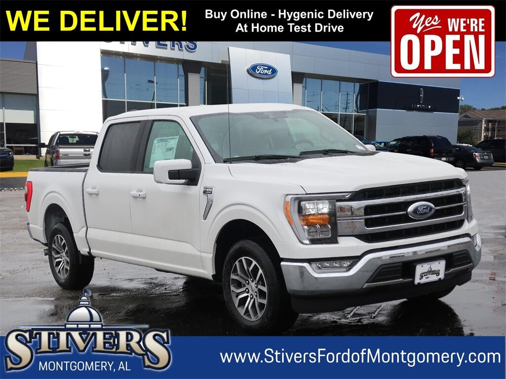 2021 Star White Metallic Tri-Coat Ford F-150 Lariat 4 Door Automatic 2.7L V6 EcoBoost Engine Truck RWD