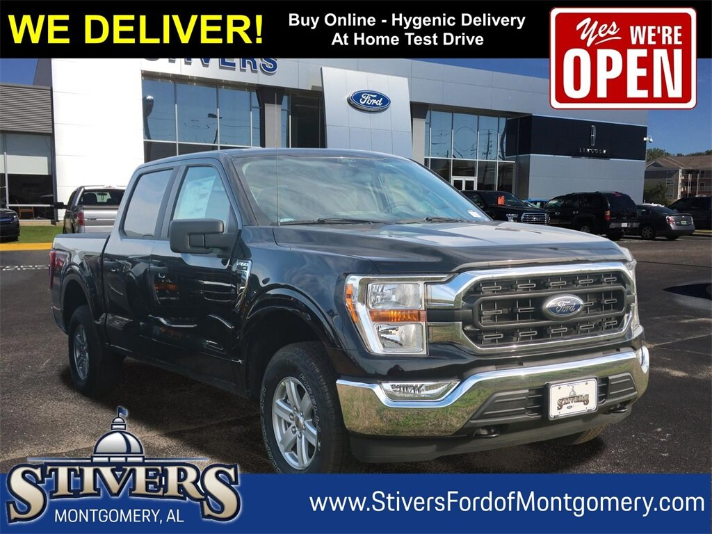 2021 Agate Black Metallic Ford F-150 XLT 4 Door Automatic 3.3L V6 Engine 4X4 Truck