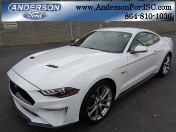 2019 Oxford White Ford Mustang GT Premium 5.0L V8 Ti-VCT Engine RWD 2 Door Automatic Coupe