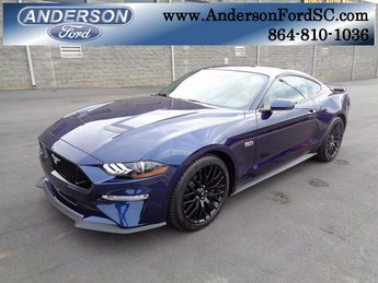 2019 Kona Blue Metallic Ford Mustang GT Premium 2 Door Coupe RWD Manual 5.0L V8 Ti-VCT Engine