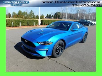 2019 Blue Ford Mustang EcoBoost EcoBoost 2.3L I4 GTDi DOHC Turbocharged VCT Engine RWD Coupe