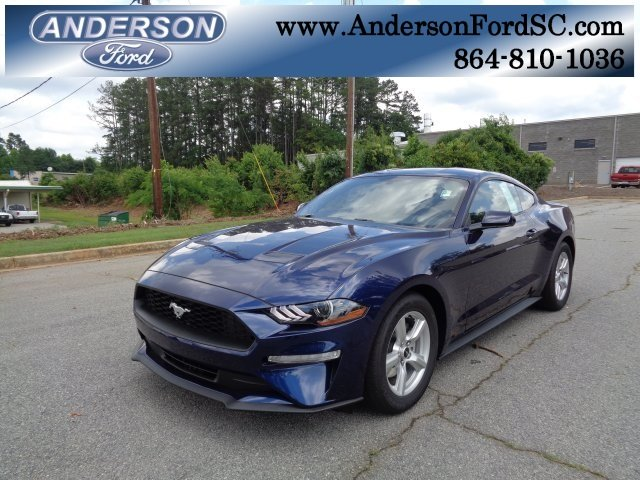 2018 Kona Blue Metallic Ford Mustang EcoBoost Automatic RWD EcoBoost 2.3L I4 GTDi DOHC Turbocharged VCT Engine Coupe 2 Door