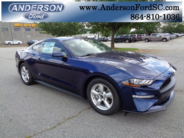 2018 Kona Blue Metallic Ford Mustang EcoBoost Automatic RWD EcoBoost 2.3L I4 GTDi DOHC Turbocharged VCT Engine 2 Door