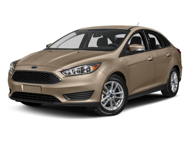 2018 White Gold Metallic Ford Focus SE Sedan 4 Door EcoBoost 1.0L I3 GTDi DOHC Turbocharged VCT Engine