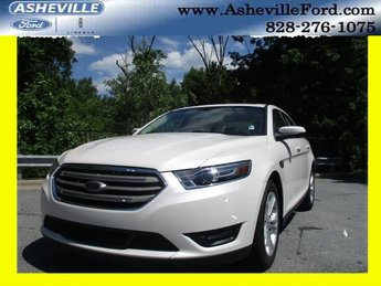 2018 White Platinum Clearcoat Metallic Ford Taurus SEL 3.5L V6 Ti-VCT Engine FWD Sedan
