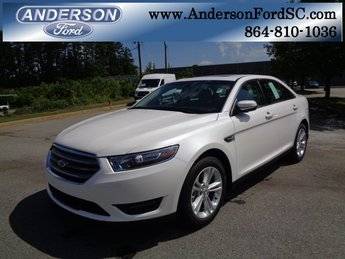 2018 White Platinum Clearcoat Metallic Ford Taurus SEL 4 Door Automatic 3.5L V6 Ti-VCT Engine