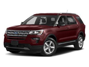 2018 Burgundy Velvet Metallic Tinted Clearcoat Ford Explorer XLT 3.5L V6 Ti-VCT Engine SUV Automatic FWD