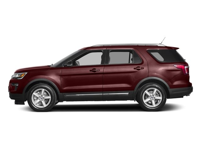 2018 Burgundy Velvet Metallic Tinted Clearcoat Ford Explorer XLT 3.5L V6 Ti-VCT Engine Automatic 4 Door FWD SUV