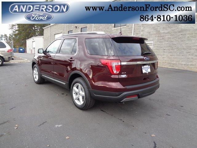 2019 Burgundy Velvet Metallic Tinted Clearcoat Ford Explorer XLT 3.5L V6 Ti-VCT Engine 4 Door FWD Automatic