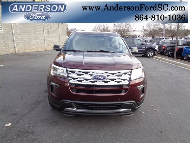 2019 Burgundy Velvet Metallic Tinted Clearcoat Ford Explorer XLT 4 Door SUV 3.5L V6 Ti-VCT Engine Automatic