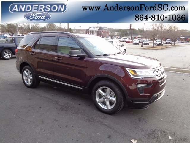 2019 Burgundy Velvet Metallic Tinted Clearcoat Ford Explorer XLT Automatic 4 Door SUV FWD