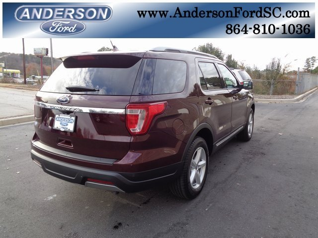 2019 Burgundy Velvet Metallic Tinted Clearcoat Ford Explorer XLT 3.5L V6 Ti-VCT Engine 4 Door FWD SUV Automatic