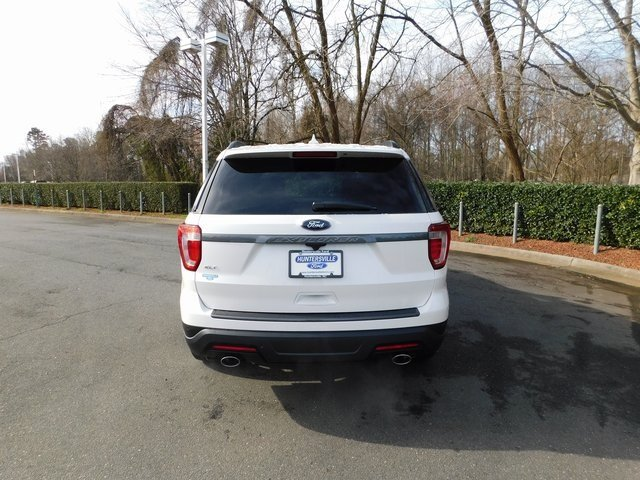 2019 White Ford Explorer XLT 3.5L V6 Ti-VCT Engine 4 Door Automatic