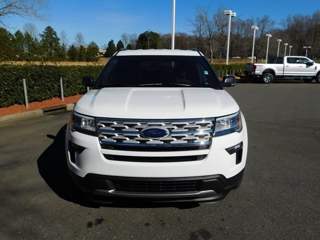 2019 Oxford White Ford Explorer XLT 4 Door FWD 3.5L V6 Ti-VCT Engine SUV