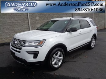 2019 Oxford White Ford Explorer XLT FWD SUV 3.5L V6 Ti-VCT Engine Automatic 4 Door