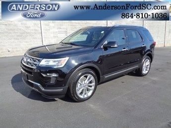 2019 Agate Black Metallic Ford Explorer Limited SUV Automatic 3.5L V6 Ti-VCT Engine FWD 4 Door