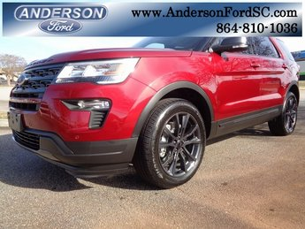 2019 Ruby Red Metallic Tinted Clearcoat Ford Explorer XLT SUV Automatic 4X4 3.5L V6 Ti-VCT Engine 4 Door