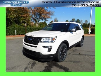 2019 White Ford Explorer XLT SUV 3.5L V6 Ti-VCT Engine 4 Door