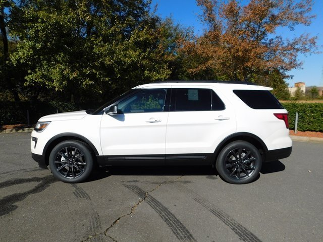 2019 White Ford Explorer XLT 4X4 Automatic 3.5L V6 Ti-VCT Engine SUV 4 Door