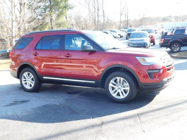 2019 Ruby Red Metallic Tinted Clearcoat Ford Explorer XLT 4X4 4 Door 3.5L V6 Ti-VCT Engine SUV Automatic