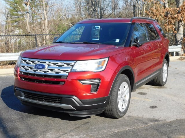 2019 Ruby Red Metallic Tinted Clearcoat Ford Explorer XLT Automatic 4 Door SUV 4X4