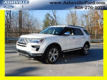 2019 White Metallic Ford Explorer Limited 4 Door Automatic 4X4