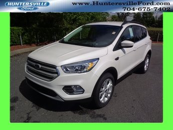 2018 White Platinum Clearcoat Metallic Ford Escape SEL EcoBoost 1.5L I4 GTDi DOHC Turbocharged VCT Engine Automatic SUV FWD