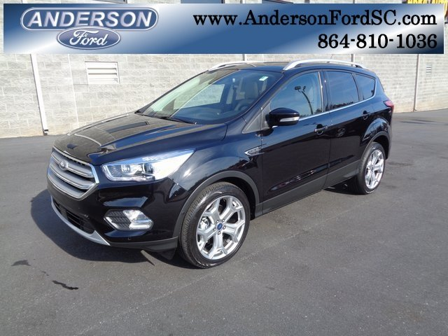 2019 Agate Black Metallic Ford Escape Titanium Automatic 4 Door SUV EcoBoost 2.0L I4 GTDi DOHC Turbocharged VCT Engine