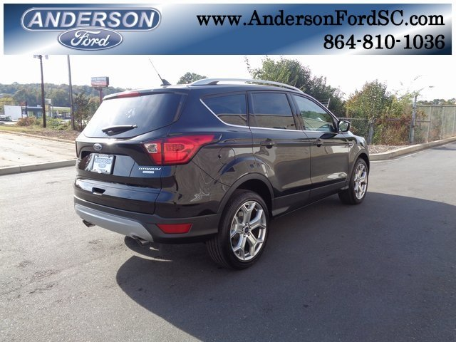2019 Agate Black Metallic Ford Escape Titanium Automatic 4 Door EcoBoost 2.0L I4 GTDi DOHC Turbocharged VCT Engine