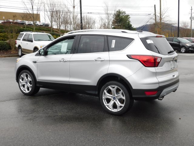 2019 Ingot Silver Metallic Ford Escape Titanium SUV EcoBoost 2.0L I4 GTDi DOHC Turbocharged VCT Engine 4 Door