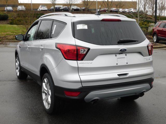 2019 Ingot Silver Metallic Ford Escape Titanium Automatic 4 Door SUV 4X4 EcoBoost 2.0L I4 GTDi DOHC Turbocharged VCT Engine