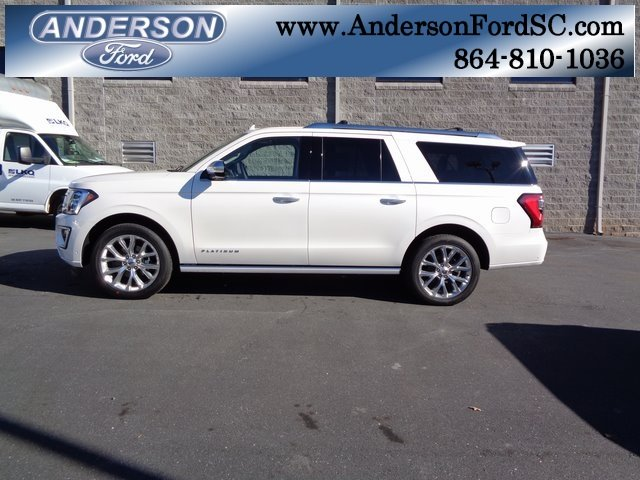 2019 White Metallic Ford Expedition Max Platinum 4 Door Automatic SUV