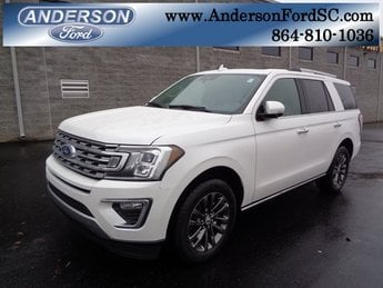 2019 White Metallic Ford Expedition Limited EcoBoost 3.5L V6 GTDi DOHC 24V Twin Turbocharged Engine 4 Door Automatic RWD